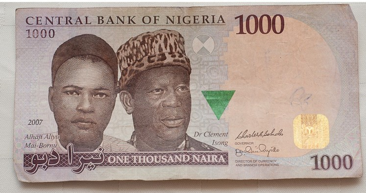 Photo: 1000 Naira note. Credit: Shardayyy