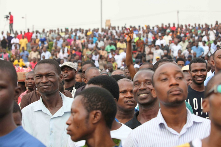 Photo: Occupy Nigeria Rally at Gani Fawehinmi Park, Ojota, Lagos, 201,. Credit:TemiK OGBE at fatcityafrica.com