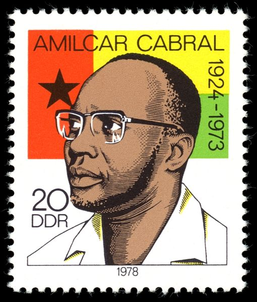 Photo: Amilcar Cabral on a Guinea-Bissau stamp